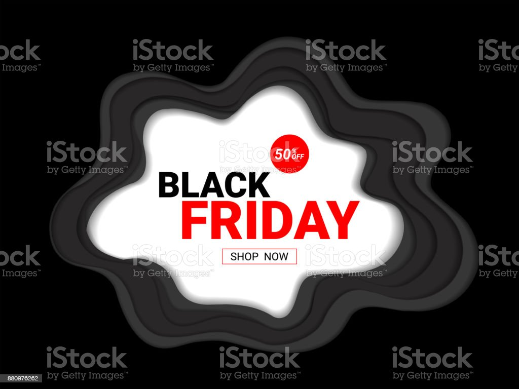 Black Friday Sale Inscription Design Template Concept Of Advertising For Seasonal Offer With Abstract Background Its Fully Layered And Editable Easy To Customize It To Fit Your Needs Stock Illustration Download