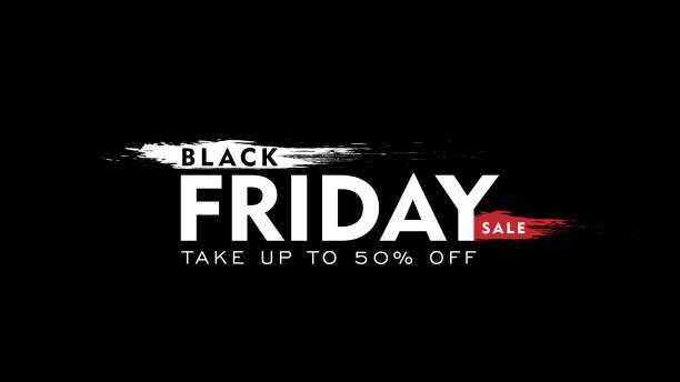 ilustrações, clipart, desenhos animados e ícones de rótulo preto venda de sexta-feira. ilustração em vetor. elementos de design 3d para venda banners, cartazes, cartões - black friday