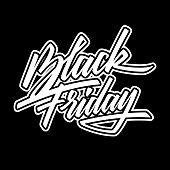 Black Friday Sale Lettering Banner, Calligraphy Badge