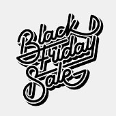 Black Friday Sale Lettering Banner, Calligraphy Badge