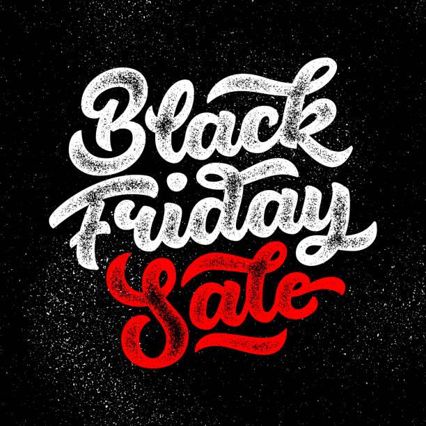 black friday sale schriftzug banner, kalligraphie-abzeichen - splash grafiken stock-grafiken, -clipart, -cartoons und -symbole