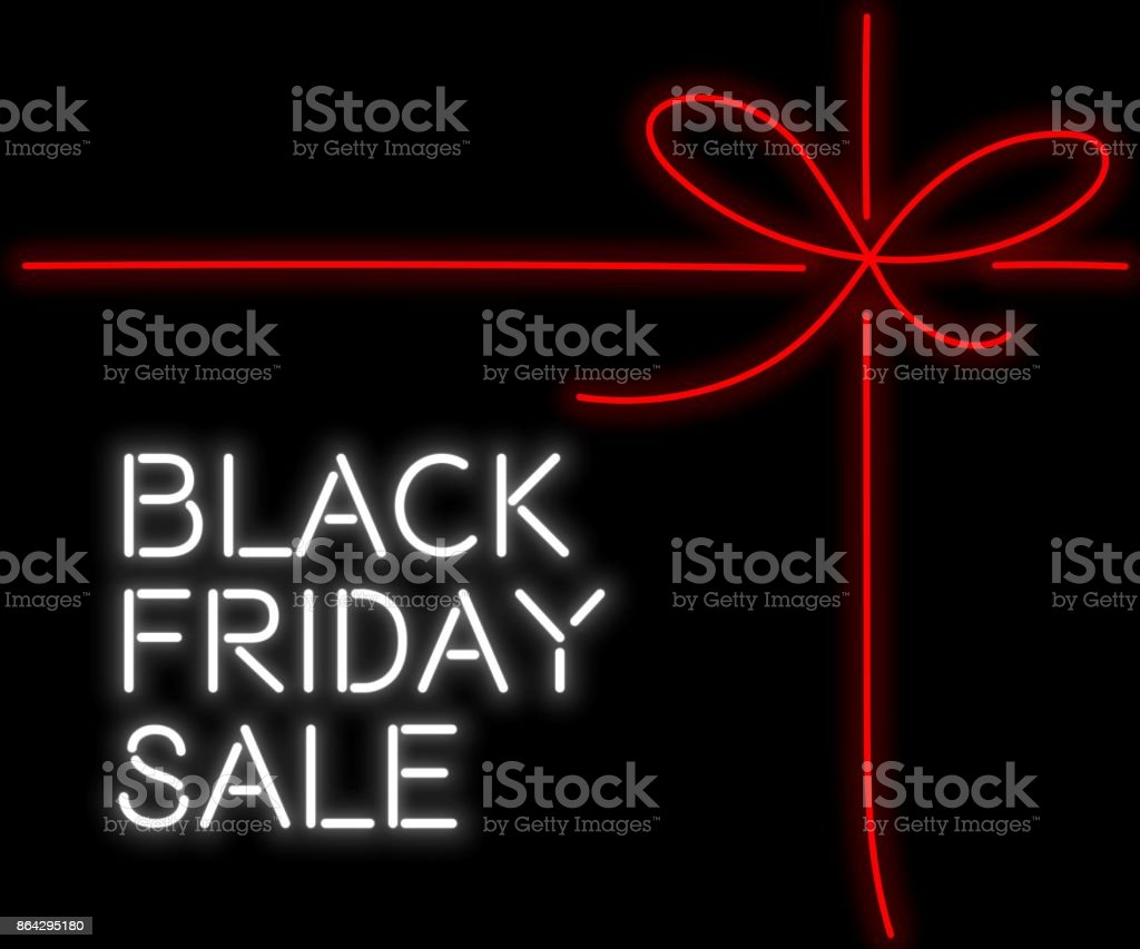 Black Friday Sale neon sign royalty-free black friday sale neon sign stock vector art & more images of award ribbon
