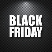 Black Friday sale with a carbon metallic background (black metallic texture). The letters of the text are white with shadow, it creates a good relief effect. Vector Illustration (EPS10, well layered and grouped). Easy to edit, manipulate, resize or colorize. Please do not hesitate to contact me if you have any questions, or need to customise the illustration. http://www.istockphoto.com/portfolio/bgblue