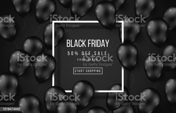 Black Friday Sale Poster Dark Stock Illustration - Download Image Now