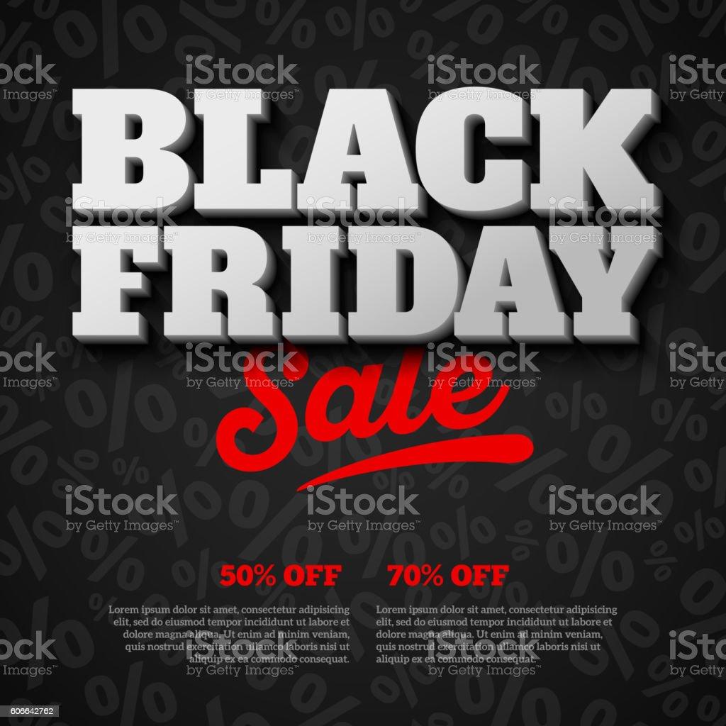 Cartaz de venda de Black Friday - ilustração de arte em vetor