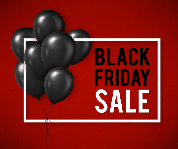 블랙 금요일이요 판매 포스터 - black friday stock illustrations