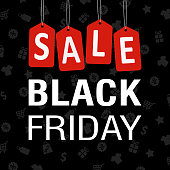 Black Friday Sale Poster - vector Illustration