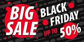 Black Friday Sale Poster - vector Illustration