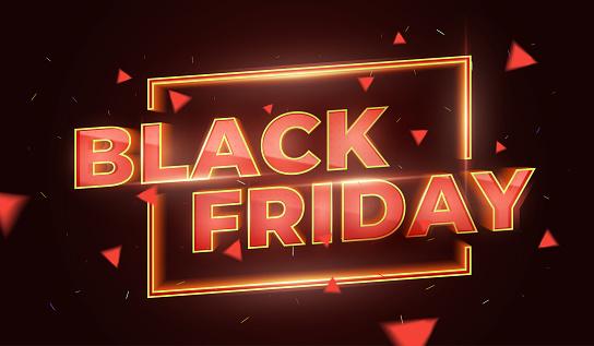 Black Friday Sale Promotion Poster Or Banner Social Media Banner Design Template Stock Illustration - Download Image Now