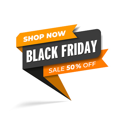 Black Friday sale promotion web banner heading design on graphic white background vector for banner or poster. Sale and discount concept