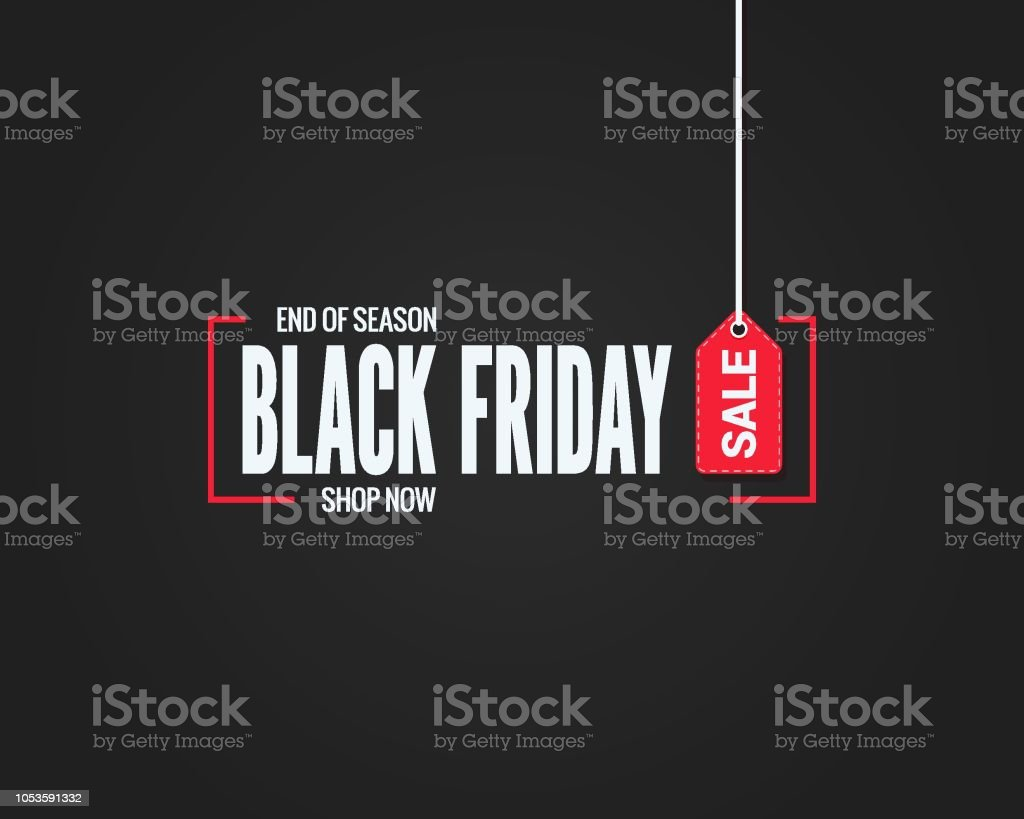 black friday sale sign on black background - Royalty-free Abstrato arte vetorial