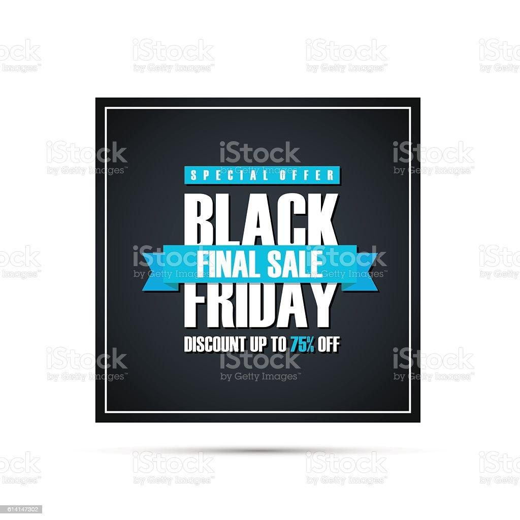 Black Friday Sale. Special offer banner. vector art illustration