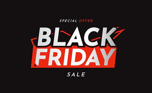 Black Friday sale special offer banner. Vector