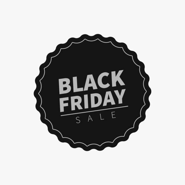 black friday sale tag. - pieczęć znaczek stock illustrations