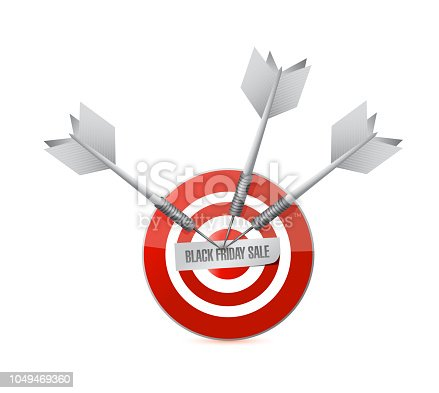 Black Friday sale Target concept illustration isolated over a white background