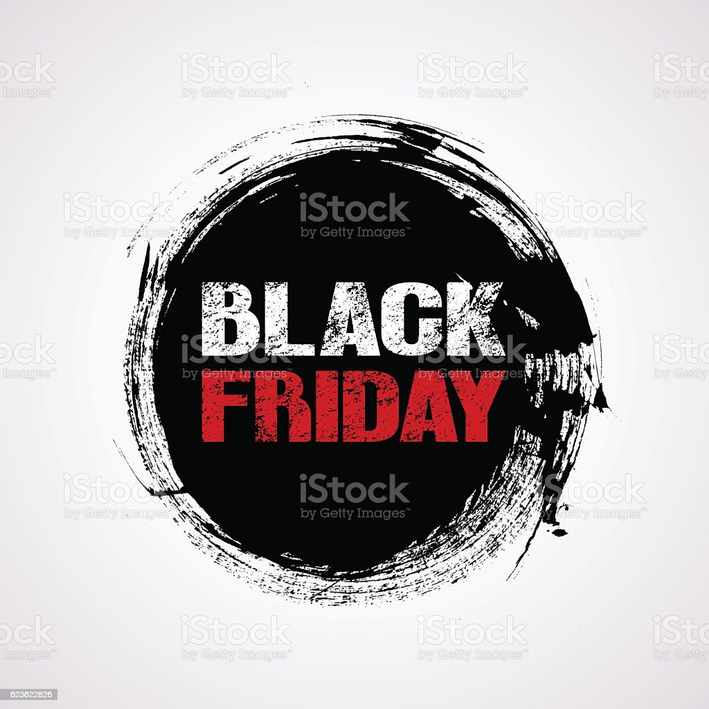 Black Friday sale title logo vector art illustration