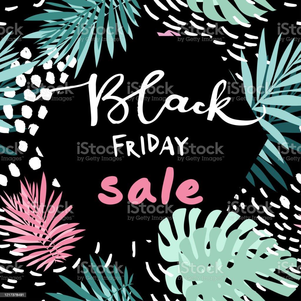 Black Friday Venta Cartel Trópico - arte vectorial de Arte libre de derechos