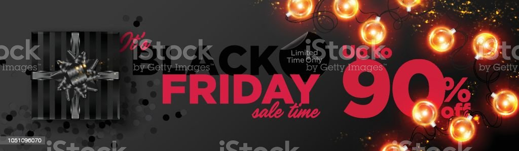 Black Friday Sale Vector Background. Business Promotion Banner with...