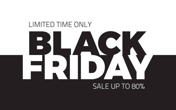 Black Friday Sale Vector Backround Black Friday Sale Shopping Vector Abstract Background black friday sale stock illustrations