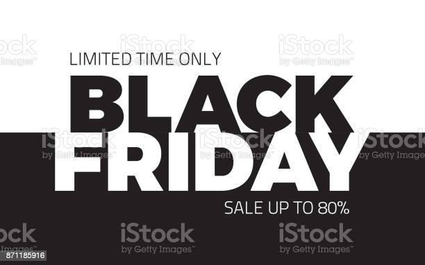 Black Friday Sale Vector Backround Stock Illustration - Download Image Now