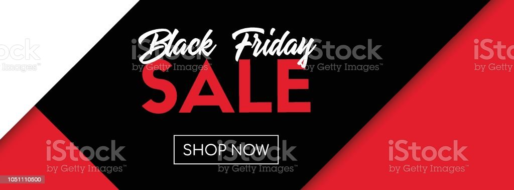 Black friday sale vector banner. Shop now. Online shopping template