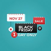 Black Friday calendar sale concept with space for copy. EPS 10 file. Transparency effects used on highlight elements.