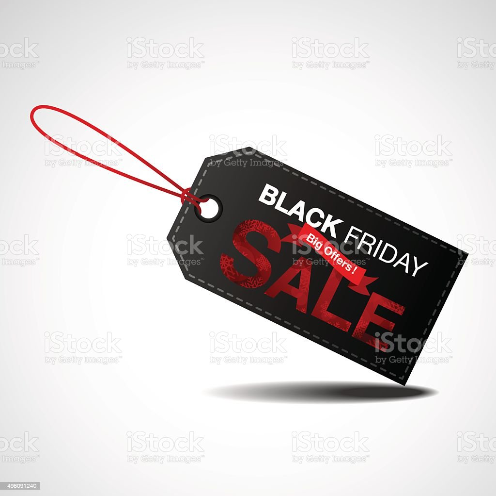 Black friday sale vector art illustration