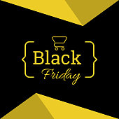 Banner or poster template for black Friday sale.
