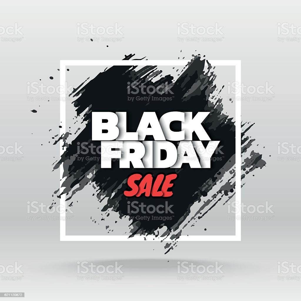 Black friday sale. vector art illustration