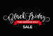 Black Friday Sale. Rectangular banner.