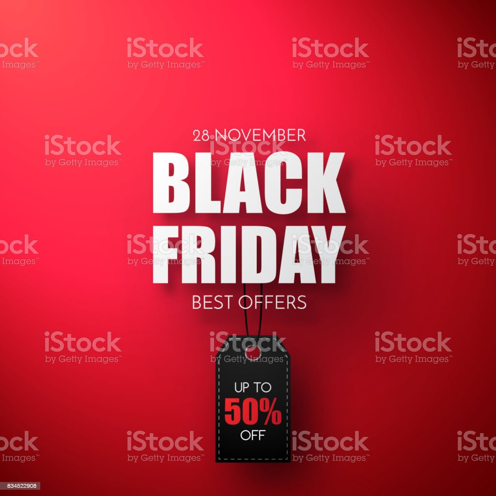 black friday sale vector template sale background with black tag
