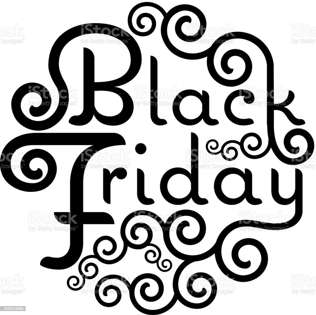 Black Friday Sale vector text Vintage Calligraphy Lettering illu black friday sale vector text vintage calligraphy lettering illu - stockowe grafiki wektorowe i więcej obrazów biznes royalty-free