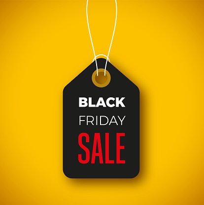 Black friday sale web banner design with black and yellow colors