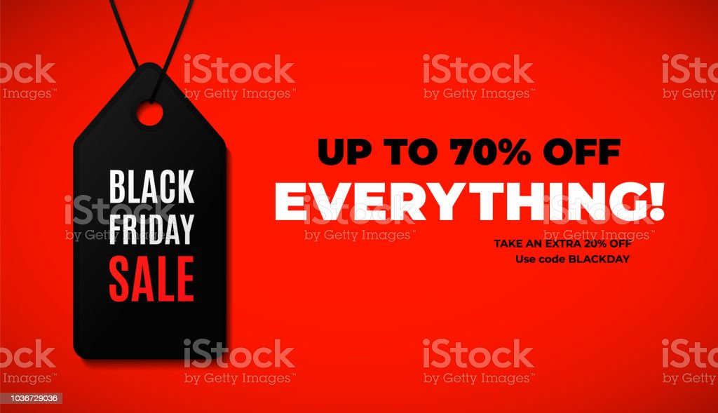 Black friday sale web banner design with modern black and red colors. Black friday sale web banner design with modern black and red colors Advertisement stock vector