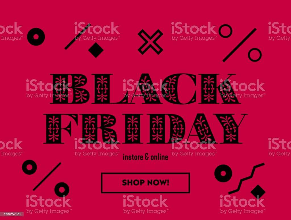Ilustración de Venta Viernes Negro Banner De Web O Cupón Diseño ...