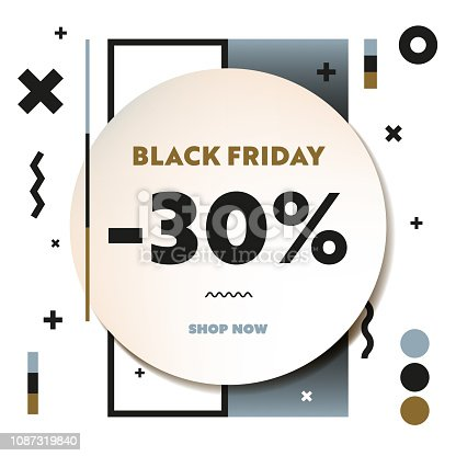 30% off Black Friday Sale Web Banner and Social Media Template