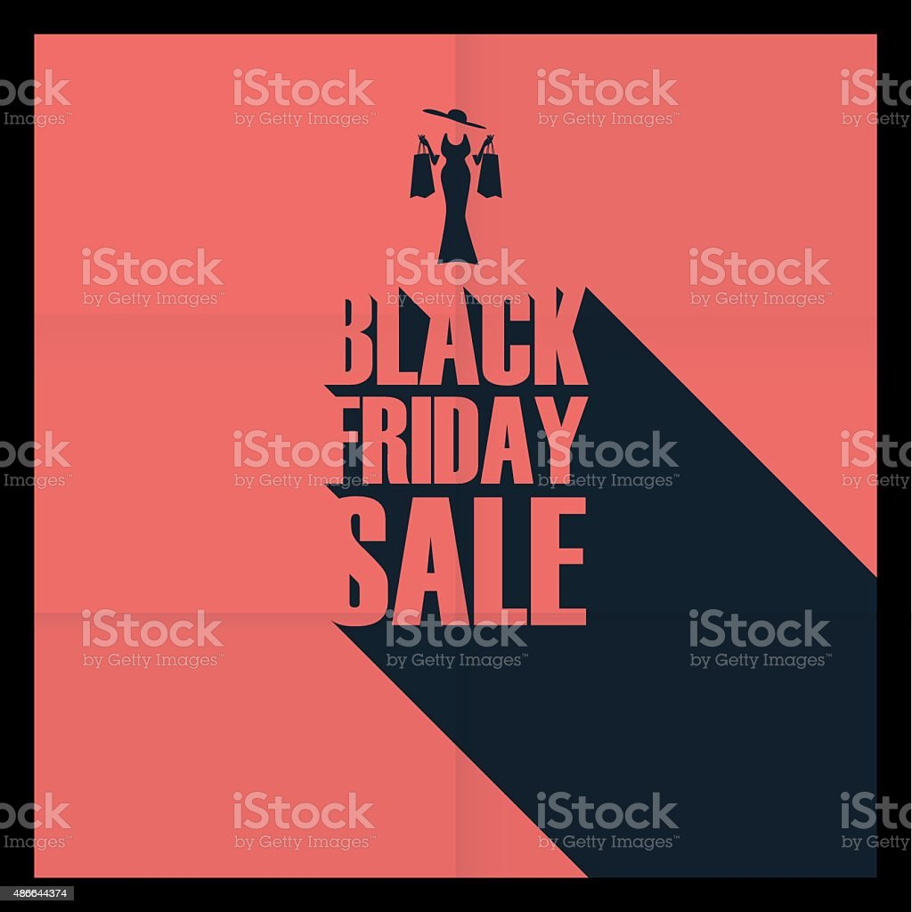 Black Friday Sales Poster Template. Special Offers Advertising. Creative  Typography Royalty Free Black  For Sale Poster Template