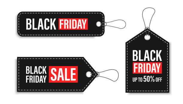 Black Friday sales tags and labels, template shopping labels. Blank, discount and price tags on paper. Special offer. Black Friday. Vintage. Big set. Vector illustration. Black Friday sales tags and labels, template shopping labels. Blank, discount and price tags on paper. Special offer. Black Friday. Vintage. Big set. Vector illustration black friday sale stock illustrations