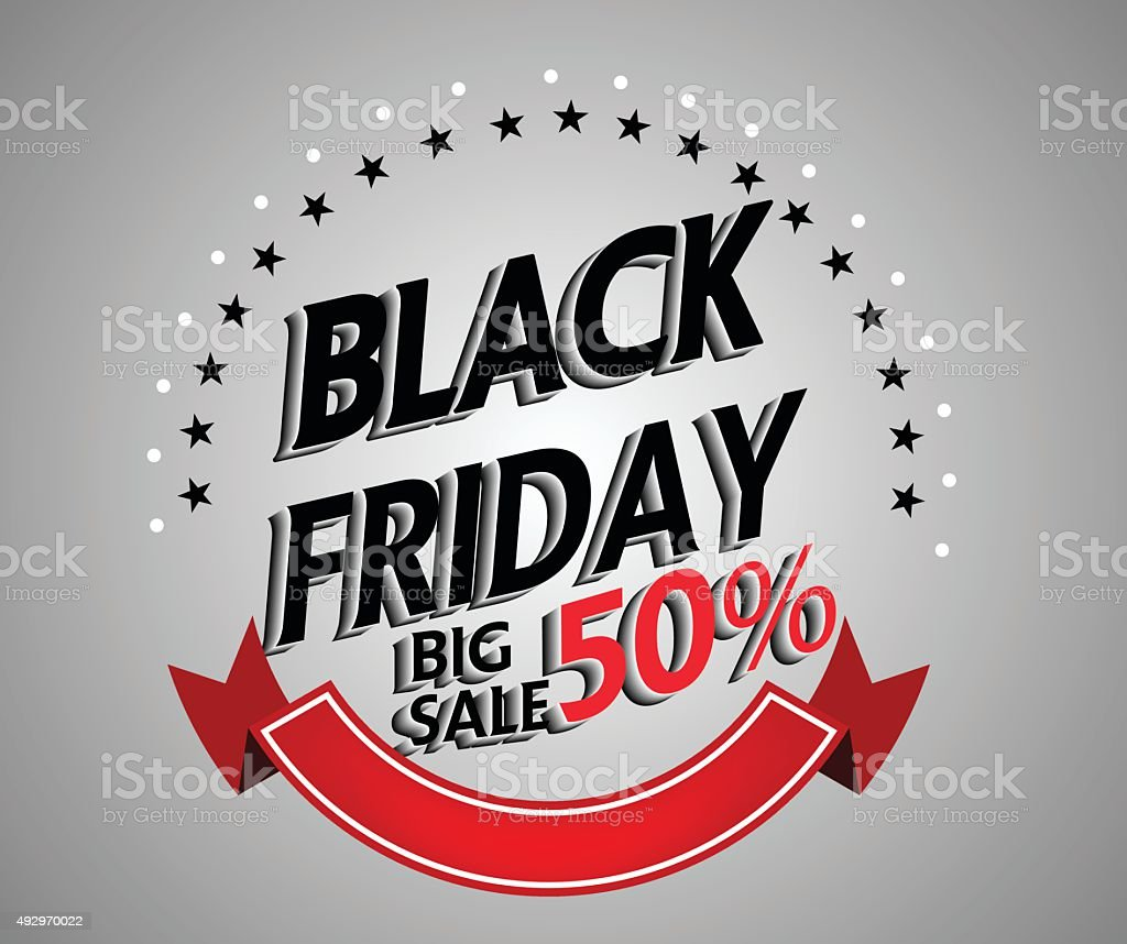 black friday shopping bag and sales tag marketing template stock