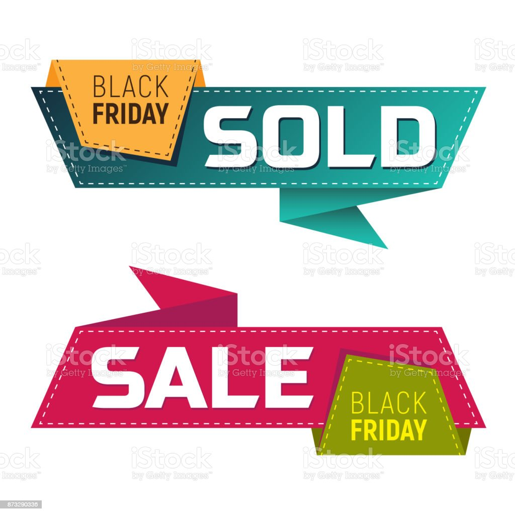 915a373aff91 Black friday sold and sale banners or labels for marketing promotion royalty -free black friday