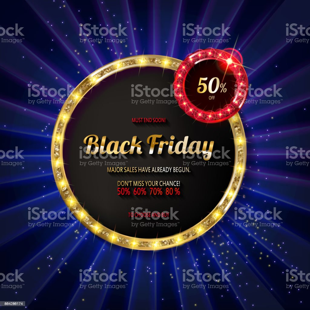 Black friday special offer on gold badge royalty-free black friday special offer on gold badge stock vector art & more images of abstract