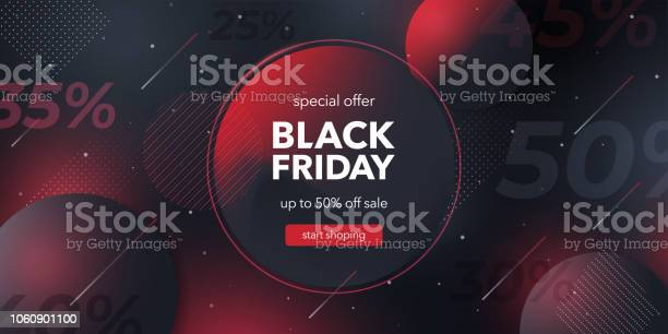 Black Friday Special Offer Social Media Web Banner For Shopping Sale Product Promotion Stock Illustration - Download Image Now