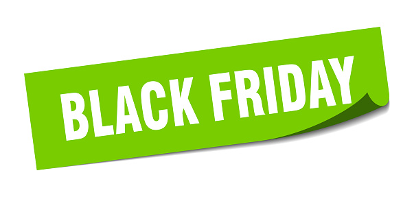 black friday sticker. square isolated label sign. peeler