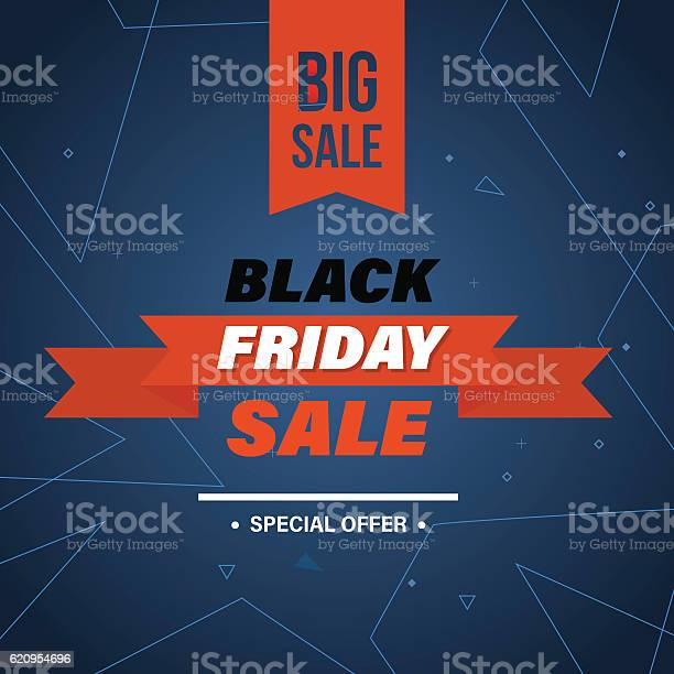 Ilustración de Black Friday System Of Discounts For The Purchase Goods y más Vectores Libres de Derechos de Abstracto