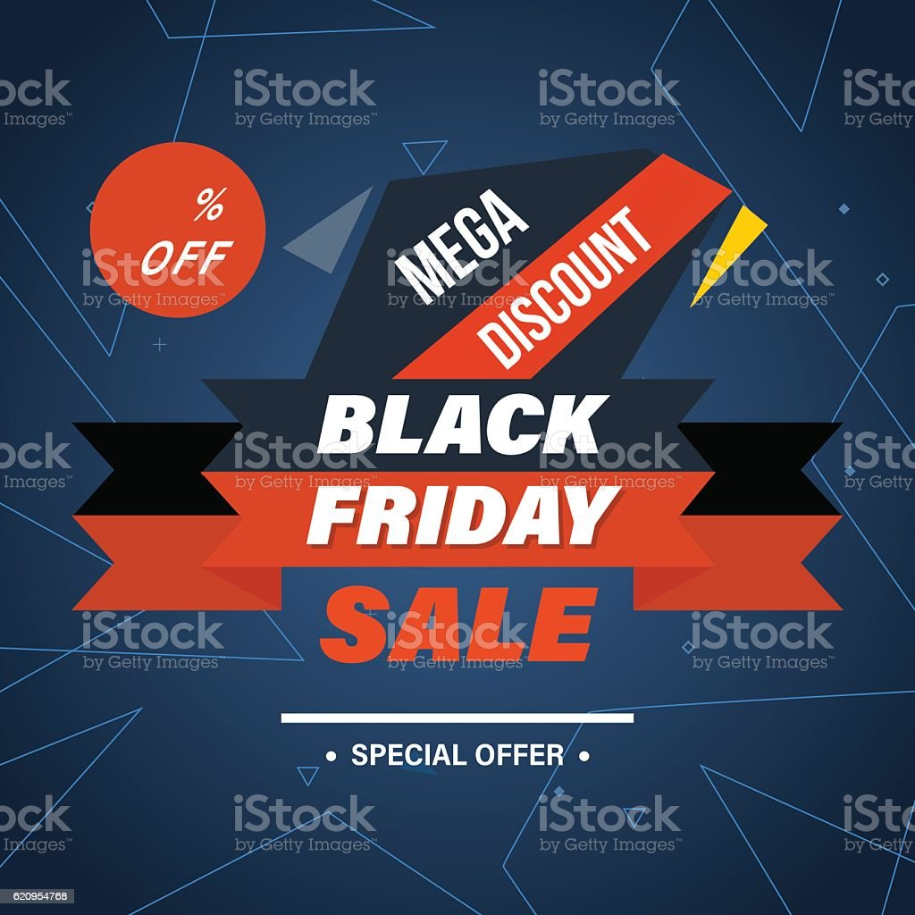 Black Friday, system of discounts for the purchase goods - arte vectorial de Abstracto libre de derechos