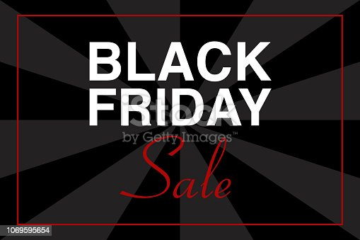 istock Illustrazione testo BLACK FRIDAY, vettoriale evento 1069595654