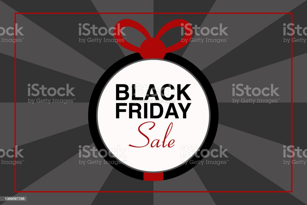 Illustrazione testo BLACK FRIDAY, vettoriale evento vector art illustration