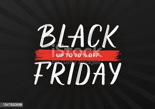 istock Black Friday typography poster. 1347630599