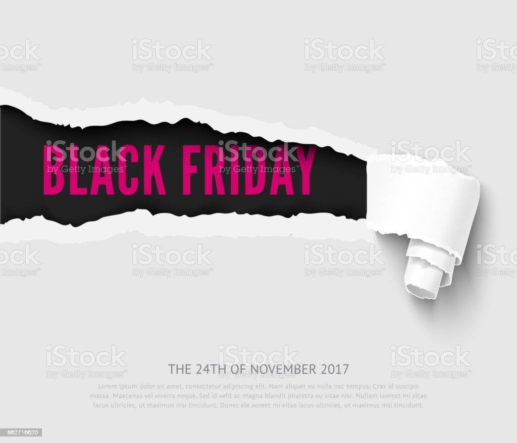 Black friday vector banner vector art illustration