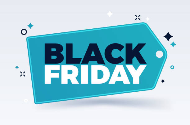 Black Friday Black Friday tag design dealing cards stock illustrations